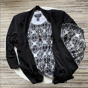 R&M Richards Knit Mock Jacket Dress, Size 12